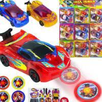 爆射�w�套�b耐摔�l射卡片模型�滑行爆裂汽�塑料��射��玩具