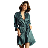 仿真丝睡衣女缎面雪纺吊带睡袍性感睡衣套装斜纹丝绸家居服
