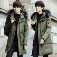 新款冬季羽绒服男士中长款韩版修身青年外套学生潮