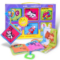 宝宝益智早教玩具 撕不烂不褪色布书 识字卡片书籍婴儿教具 新