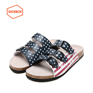 SHOEBOX/鞋柜夏季新款软木底凉拖鞋沙滩防滑休闲男鞋