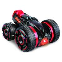 五轮特技车六通变形翻斗车儿童电动遥控汽车充电越野翻转车玩具 红色 5轮
