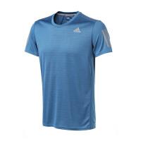 adidas阿迪达斯男装短袖T恤2018年新款跑步运动服BP7416