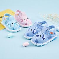 宝宝学步凉鞋夏季婴儿叫叫鞋6-12个月软底鞋