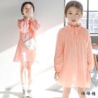 韩版女童连衣裙秋季2017新款童装纯棉宽松公主裙中大儿童娃娃裙子