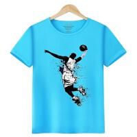 詹姆斯科比球衣库里篮球运动t恤童装中大童NBA短袖男童夏季体恤