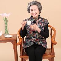 中老年人女装冬装羽绒奶奶装加绒马夹妈妈装棉衣加厚马甲棉袄