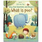 Lift-the-flap What is Poo? 便便是什么?翻翻书 英文原版纸板书 宝宝认识便便