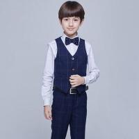 儿童礼服演出服男童马甲套装学生钢琴演奏合唱演出服