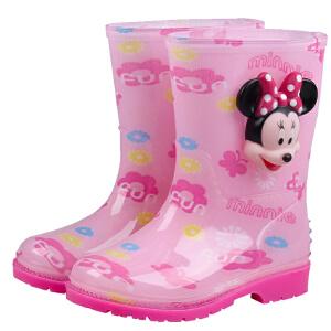 迪士尼儿童雨鞋男童 宝宝水鞋女童小孩卡通胶鞋套鞋防滑宝宝雨靴MP15491