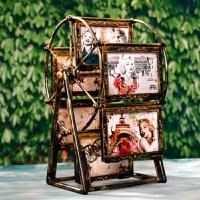 5寸摩天轮相框摆台欧式创意旋转相片框婚纱儿童照相