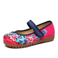 老北京布鞋女单鞋牛筋底绣花布鞋民族风广场舞女鞋平底透气船鞋子