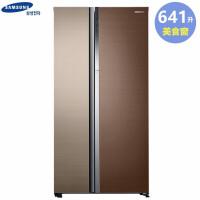 三星(SAMSUNG) RH62K62817A/SC美食窗 人性智能 641升 蝶门叠式对开门双开门冰箱(曜目・鼎赫棕)