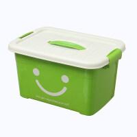 透明塑料收�{箱 加厚有�w大小�手提�s物�ξ锵� 玩具衣物收�{盒