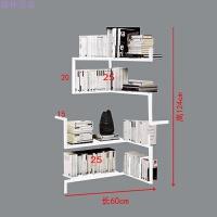 书柜客厅铁艺壁挂创意书架转角墙角置物架卧室隔板架墙上架收纳架