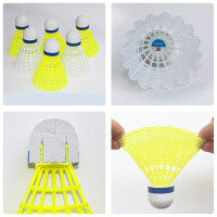300尼龙羽毛球耐打黄色塑料羽球 训练用球yy