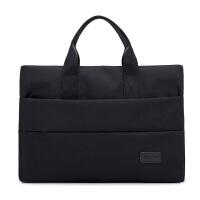 简约商务手提包女公文包13.3寸14寸15.6寸笔记本电脑包男ol文件袋