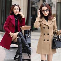 妮子外套秋冬季中年少妇妈妈装毛呢大衣30-35-40岁修身中长款女装