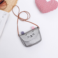 新款女童斜挎包韩版公主猫咪儿童包包可爱时尚小孩钱包迷你小包潮