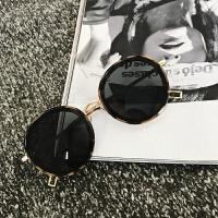 YUKISS自制 圆形眼镜墨镜女圆框黑色复古太阳镜女偏光镜 图片色