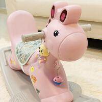 儿童摇摇马塑料木马玩具宝宝生日小礼物坐骑婴儿带音乐