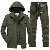 户外军装军迷101空降师休闲套装男可拆卸保暖内胆迷彩多口袋套服