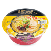 统一汤达人方便面酸酸辣辣豚骨味碗面135g 速食泡面汤面拉面碗装