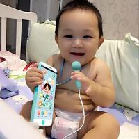 【支持礼品卡】带话筒可充电触屏男女孩可咬防口水音乐宝宝玩具手机儿童0-1-3岁j6h