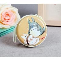 可爱卡通龙猫零钱包马卡龙金属拉链耳机硬币包促销节日礼物礼品