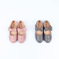 纯色复古蝴蝶结公主鞋