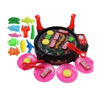 儿童过家家玩具仿真电动烧烤炉玩具宝宝厨房厨具家电子玩具 +厨师服装