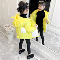 2018新款儿童棉衣冬季厚款面包服韩版会动的翅膀外套棉袄女孩