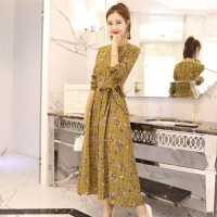 连衣裙年春季长袖中长款修身显瘦气质唯美百搭可爱