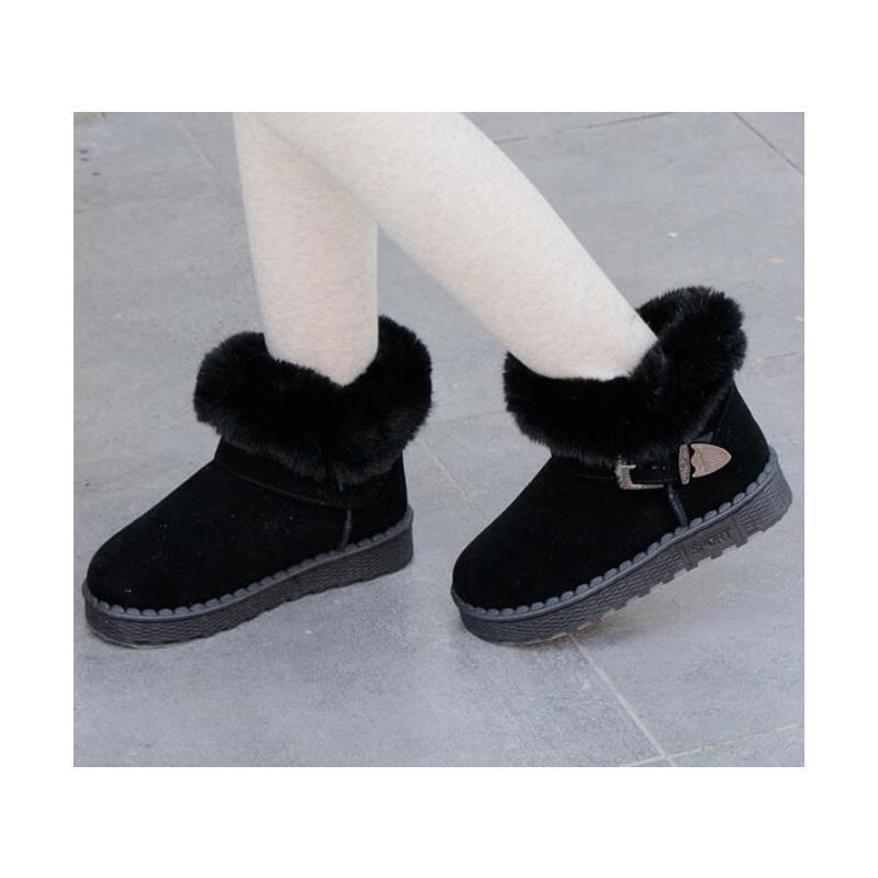 儿童雪地靴防滑女童冬季棉鞋男童加绒宝宝短靴子中大童