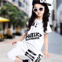 短袖练功夏季 儿童嘻哈爵士舞蹈表演出服装男女童街舞套装小学生
