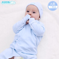初生儿0-3个月宝宝内衣套装薄款夏季婴儿和尚服