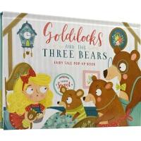 【首页抢券300-100】Fairy Tale Pop-Up Book Goldilocks and The Three
