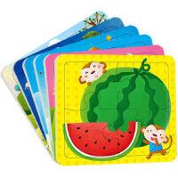 拼图2-3岁阶梯拼图动手动脑玩拼图2-3岁全6册共12张_小红花童书畅销书儿童拼图玩具 幼儿益智拼图 儿童玩具书籍 启