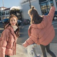 韩国面包服羽绒棉衣女短款韩版学生宽松连帽原宿风棉袄外套冬装