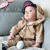 婴童装0岁3个月男宝宝拉链衫婴儿卫衣洋气春季春装