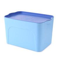 加厚收纳箱塑料收纳盒大号抽屉整理箱有盖储物箱桌面化妆品盒