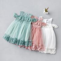 夏季儿童女宝宝一字肩仙女纱裙连衣裙六一公主裙生日礼服童装