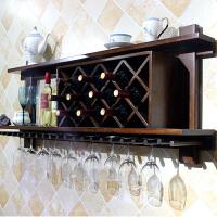 实木酒架壁挂酒柜墙上悬挂红酒架家用墙壁欧式现代简约餐厅置物架