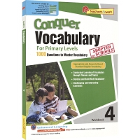 SAP Conquer Vocabulary 4 四年级攻克词汇系列练习册 10岁 新加坡新亚出版社教辅 英文原版进口