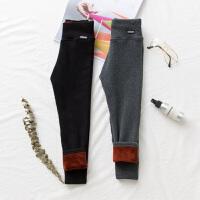 女童加绒打底裤冬季新款金狐绒加厚高腰护肚保暖长裤子