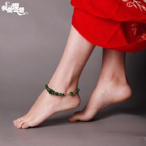 凤凰涅磐水晶脚链女简约时尚复古干青手工饰品足链中国风创意礼物