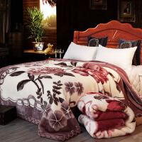 伊丝洁家纺拉舍尔毛毯被子双层加厚冬季双人毯子 单人学生宿舍盖毯珊瑚绒毯 150X200cm 4斤