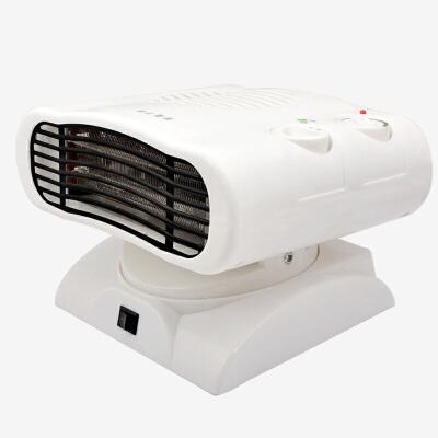 迷你暖风机家用新款摇头小空调冷暖两用便捷电热器电暖炉取暖器 白色 均码