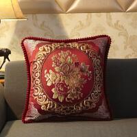 实木沙发椅子靠垫抱枕酒店会所大号腰部靠枕床头靠背垫正方形欧式T