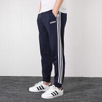 Adidas阿迪达斯男裤 2019秋季新款三条纹运动裤跑步小脚针织长裤DU0478